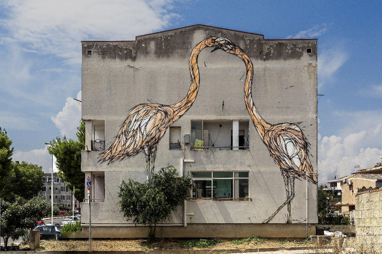 Dzia - orange flamingo